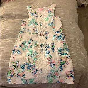 Rare Lilly Pulitzer white koi fish shift